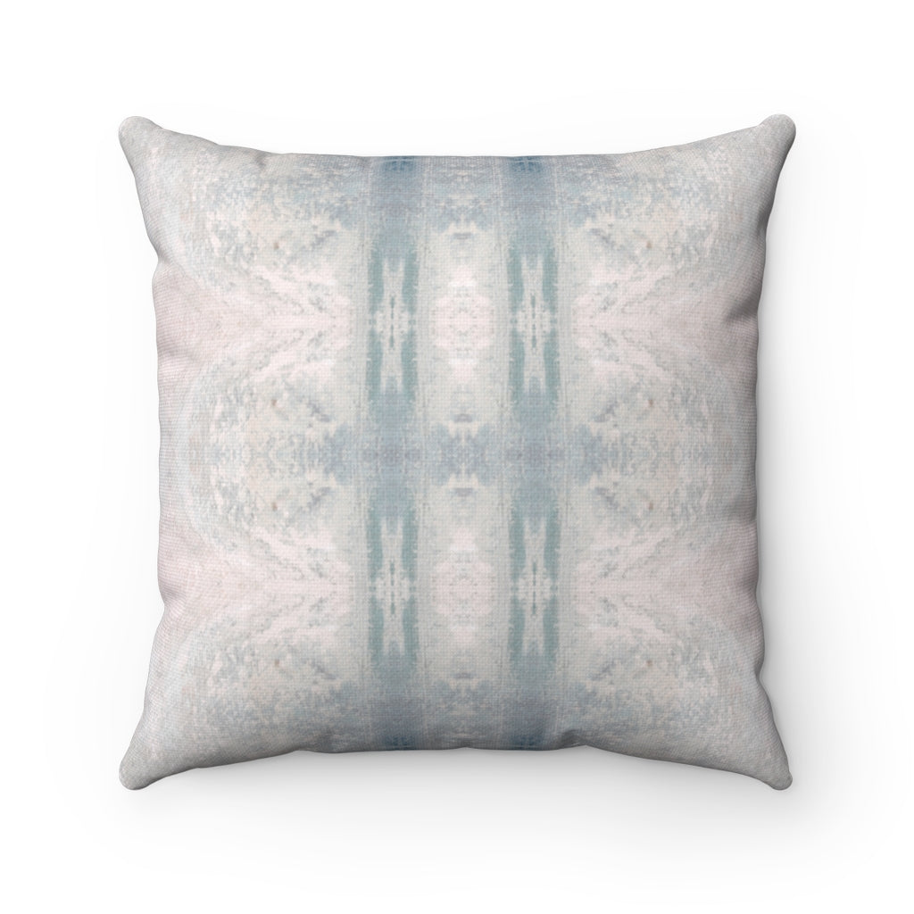 Aquarius/Ripple ~ Seafoam ~ Spun Polyester Square Pillow