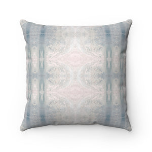 Aquarius/Reef ~ Seafoam ~ Spun Polyester Square Pillow