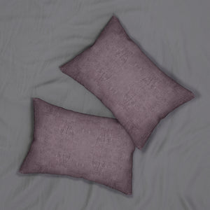 Watermark ~ Plum ~ Spun Polyester Lumbar Pillow