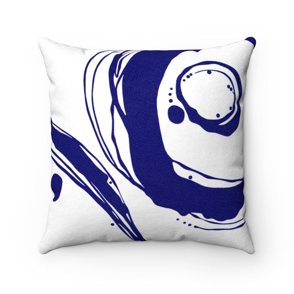 Orbit ~ Indigo ~ Faux Suede Square Pillow