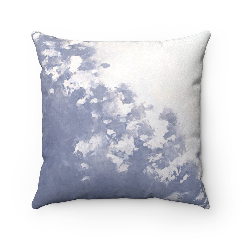 Flotsam ~ Sky ~ Faux Suede Square Pillow