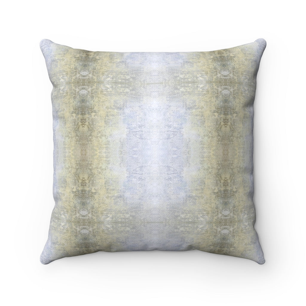 Spaces/Between ~ Sand ~ Spun Polyester Square Pillow