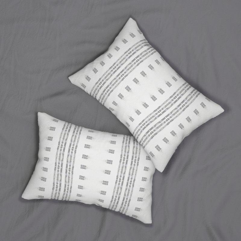 Family Gatherings ~ Grey ~ Spun Polyester Lumbar Pillow