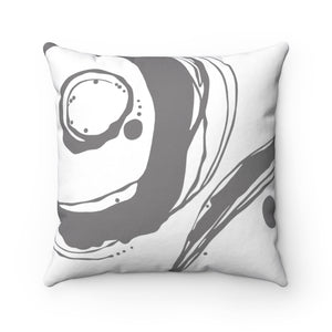 Orbit ~ Grey ~ Spun Polyester Square Pillow