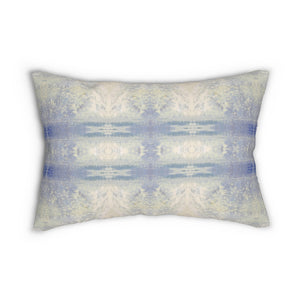 Aquarius/Ripple ~ Ocean ~ Spun Polyester Lumbar Pillow