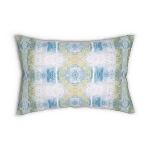 Aquarius/Shell ~ Seafoam ~ Spun Polyester Lumbar Pillow