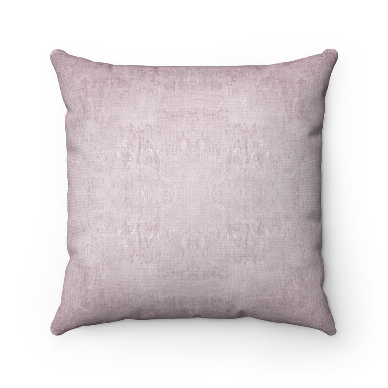 Watermark ~ Blush ~ Spun Polyester Square Pillow