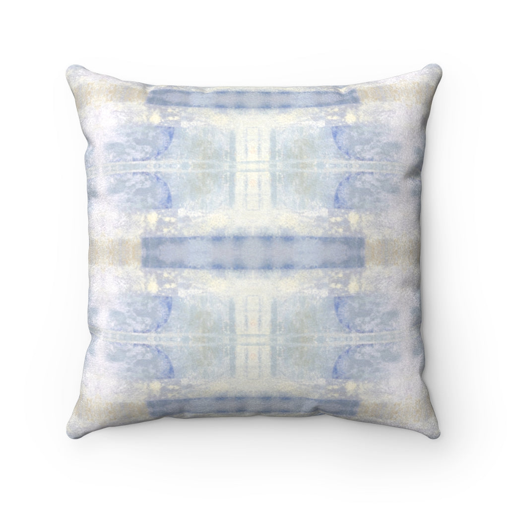 Aquarius/Delta ~ Ocean ~ Faux Suede Square Pillow