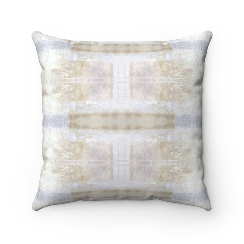Aquarius/Delta ~ Spindrift ~ Faux Suede Square Pillow