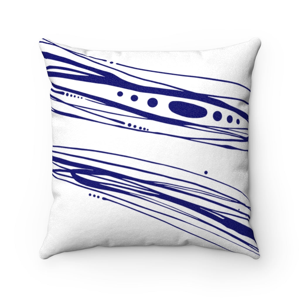 Spindrift ~ Indigo ~ Faux Suede Square Pillow