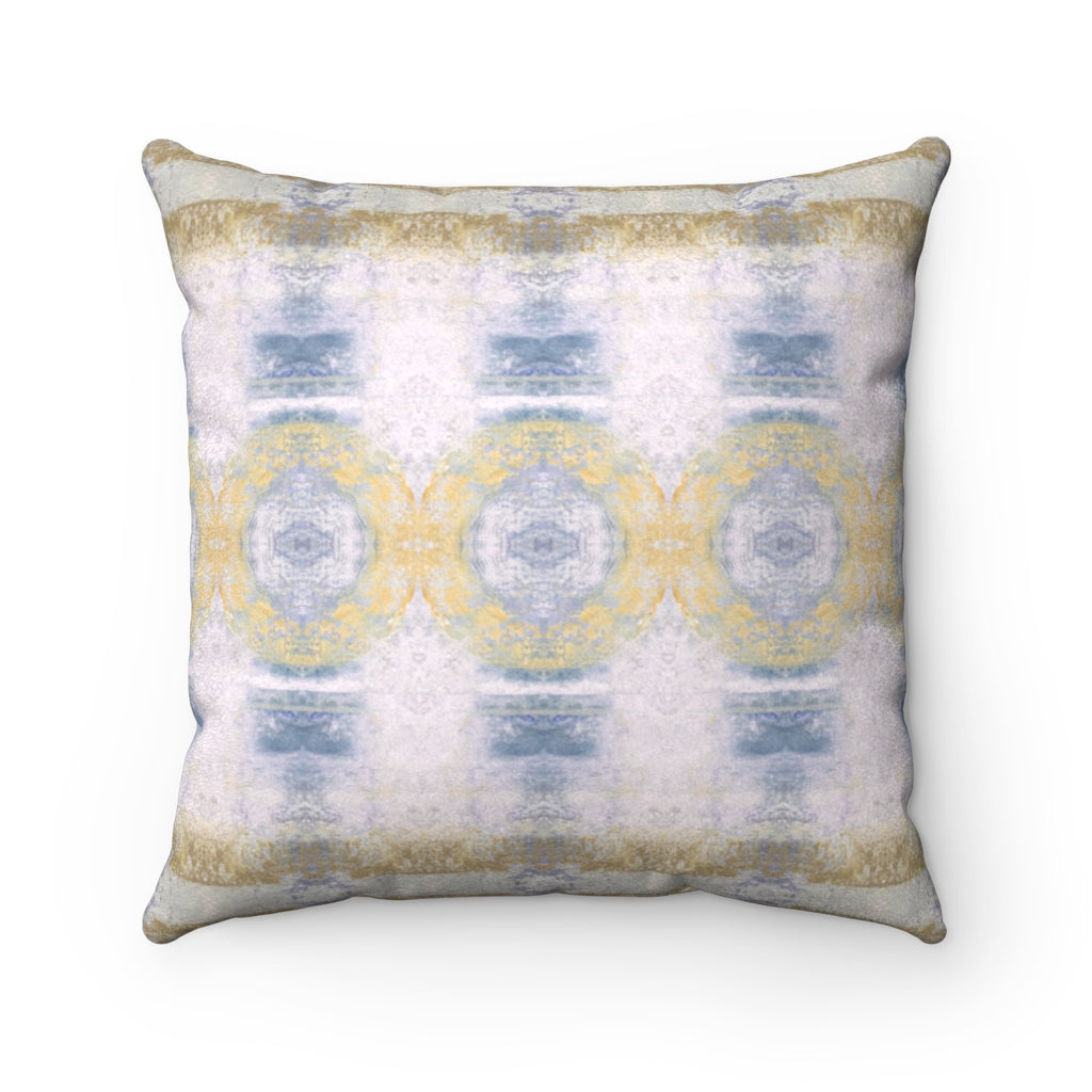 Aquarius/Shell ~ Spindrift ~ Faux Suede Square Pillow