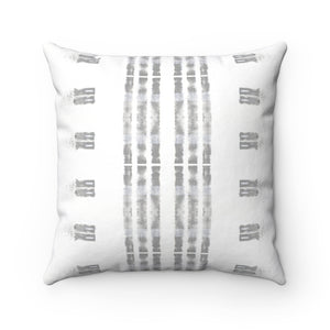 Family Values ~ Grey ~ Spun Polyester Square Pillow