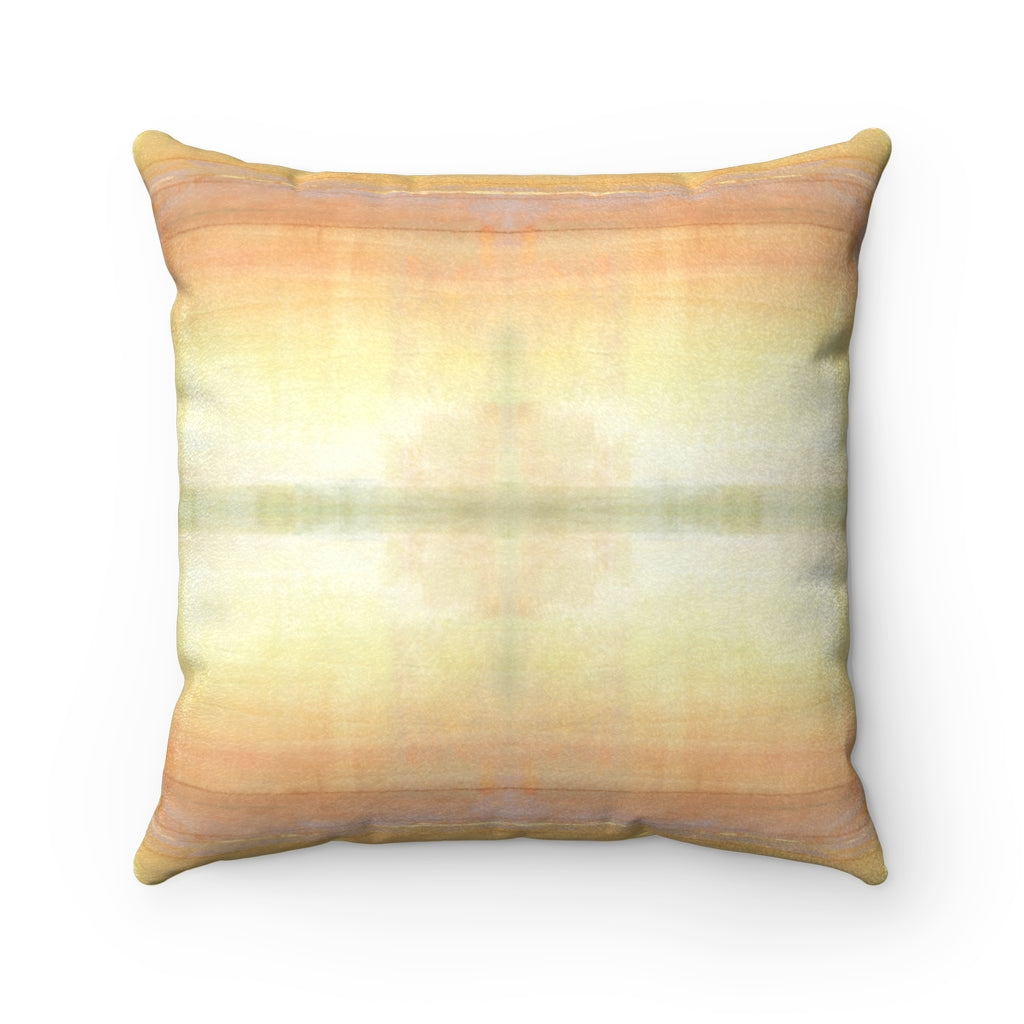 When ~ Sunlight ~ Faux Suede Square Pillow