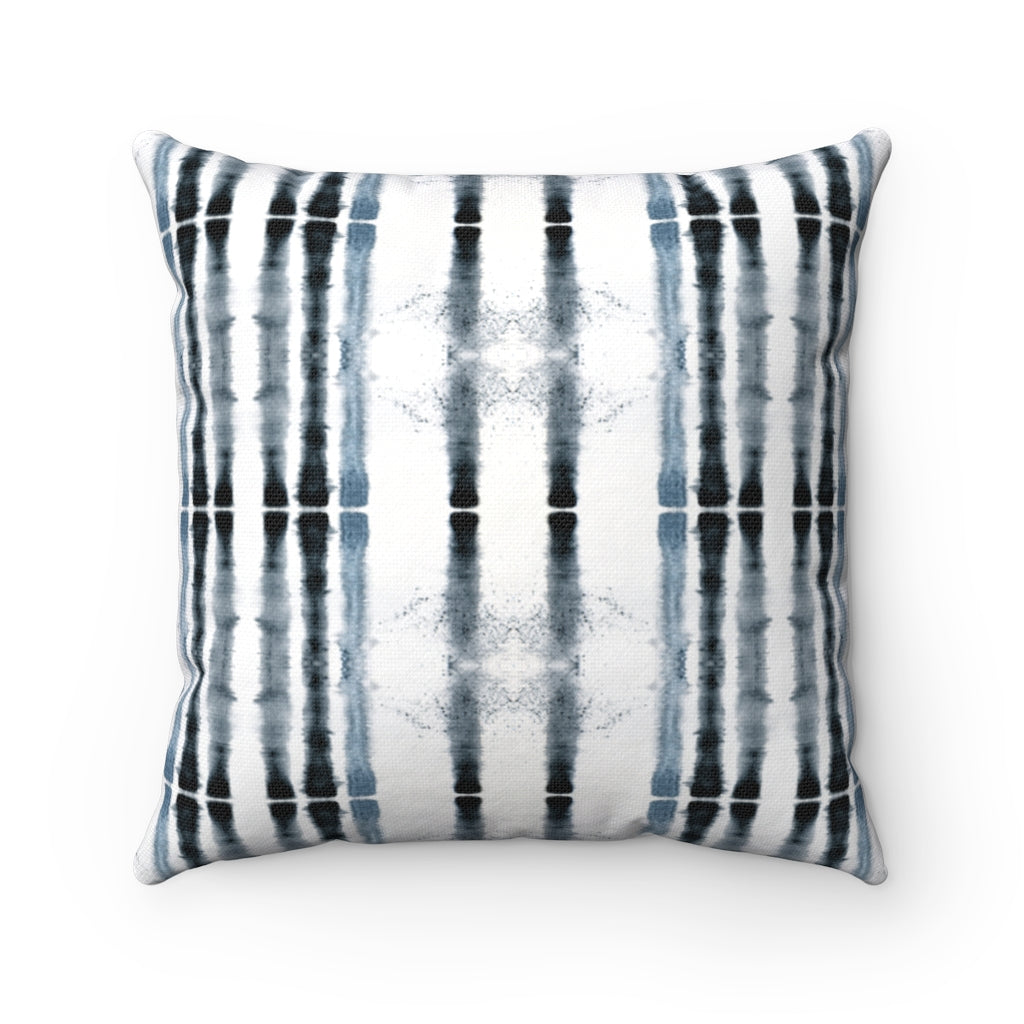 Lifeline ~ Indigo ~ Spun Polyester Square Pillow