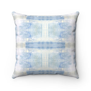 Aquarius/Delta ~ Seafoam ~ Spun Polyester Square Pillow