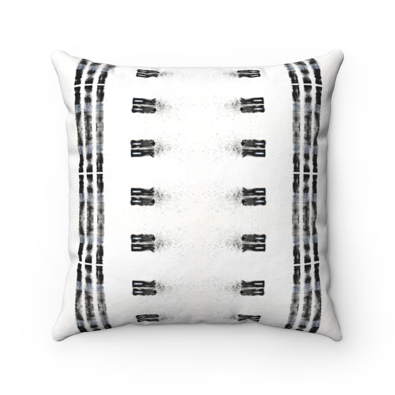 Family Ties ~ B&W ~ Spun Polyester Square Pillow