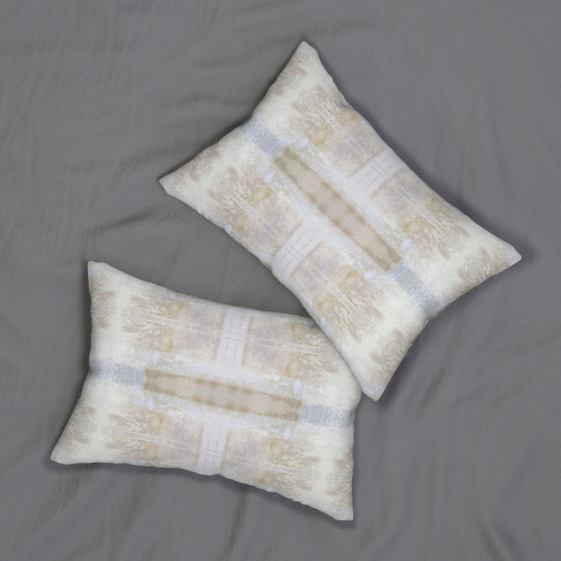 Aquarius/Delta ~ Spindrift ~ Spun Polyester Lumbar Pillow