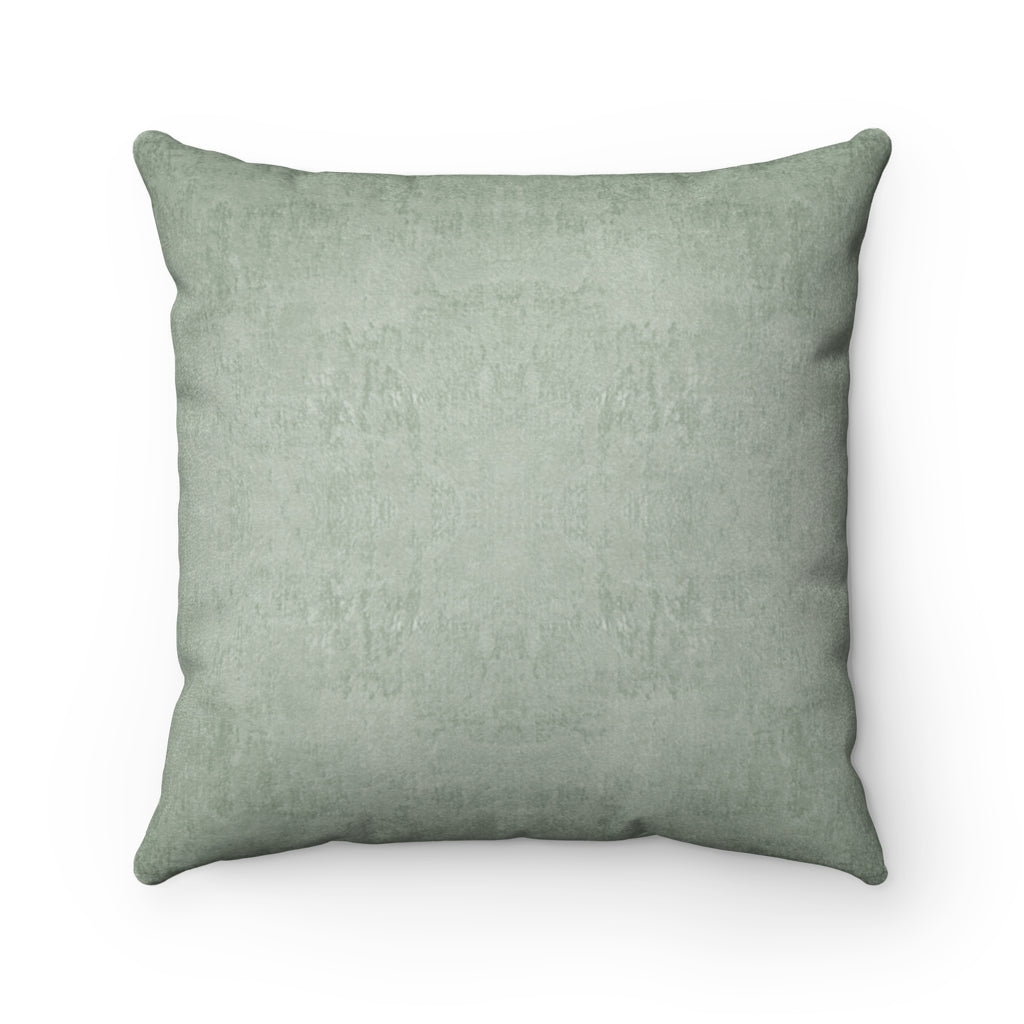 Watermark ~ Sage ~ Faux Suede Square Pillow