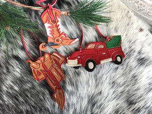 Cowgirl Christmas ornaments