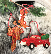 Load image into Gallery viewer, Cowgirl Christmas ornaments
