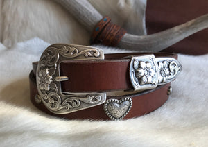 Heart concho belt