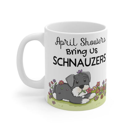April Showers Schnauzer Mug Mug Tiny Beast Designs