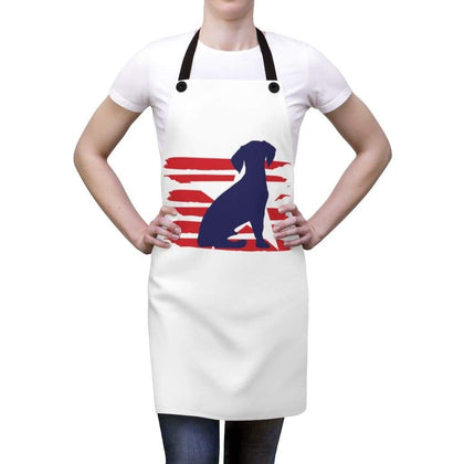 Beagle American Stripes Apron Accessories One Size Tiny Beast Designs