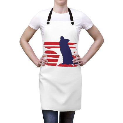 Border Collie American Stripes Apron Accessories One Size Tiny Beast Designs