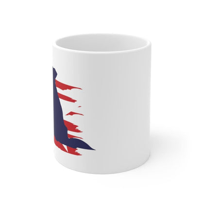 Border Collie American Stripes Mug Mug 11oz Tiny Beast Designs