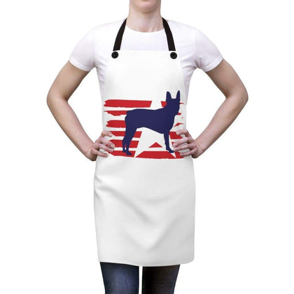 Boston Terrier American Stripes Apron Accessories One Size Tiny Beast Designs