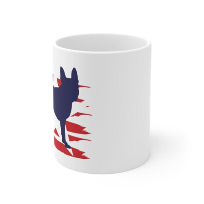 Boston Terrier American Stripes Mug Mug 11oz Tiny Beast Designs