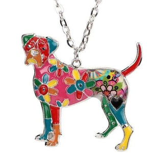 Boxer Enamel Necklace Necklace Multicolor Tiny Beast Designs