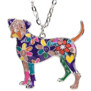 Boxer Enamel Necklace Necklace Purple Tiny Beast Designs