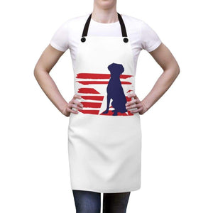 Brittany Spaniel American Stripes Apron Accessories One Size Tiny Beast Designs