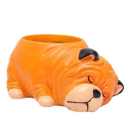 Bulldog Plant Pot Planter Tiny Beast Designs