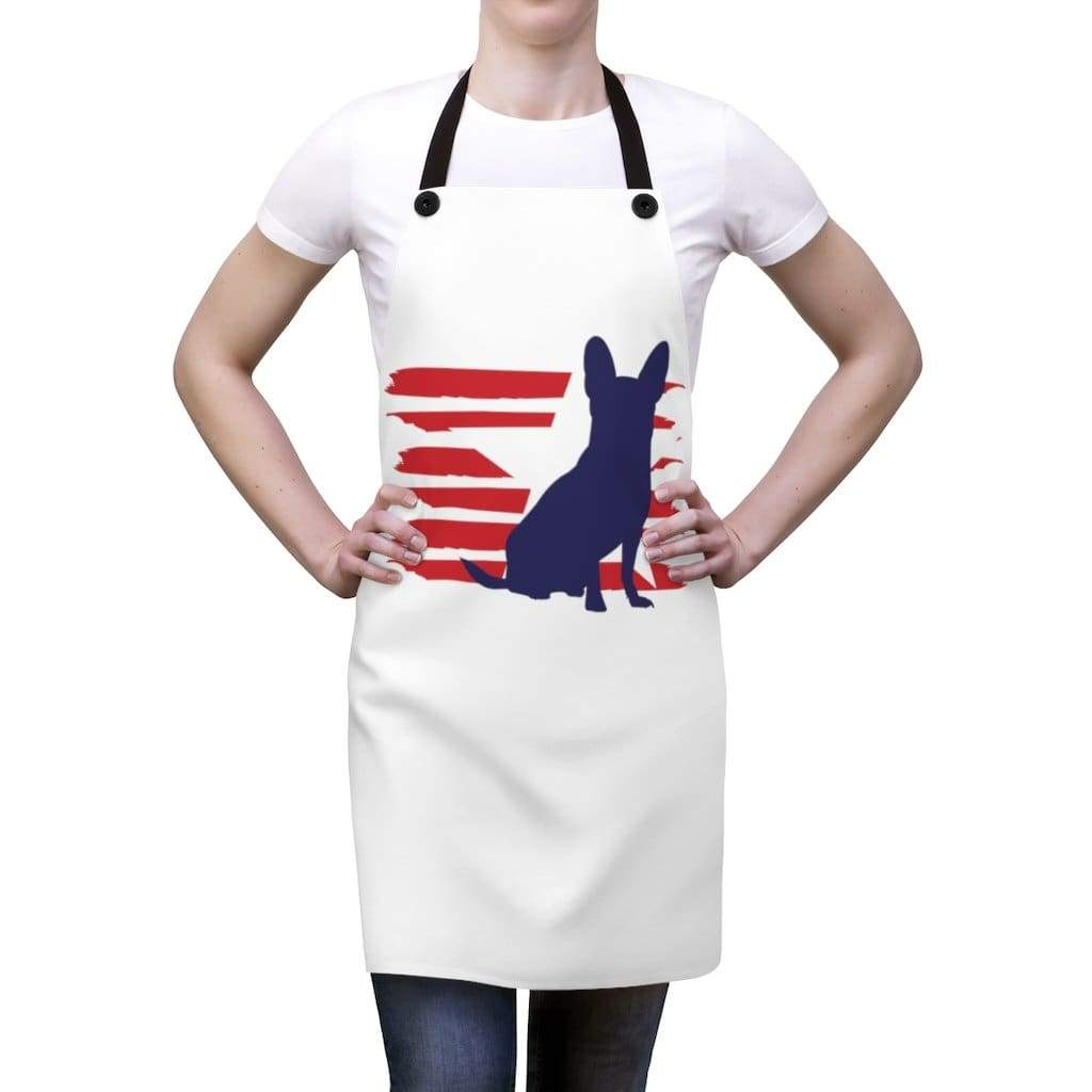 Chihuahua American Stripes Apron Accessories One Size Tiny Beast Designs