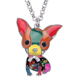 Chihuahua Puppy Enamel Necklace Necklace Multicolor Tiny Beast Designs