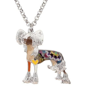 Chinese Crested Enamel Necklace Necklace Brown Tiny Beast Designs
