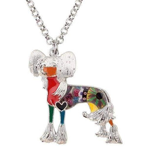 Chinese Crested Enamel Necklace Necklace Multicolor Tiny Beast Designs
