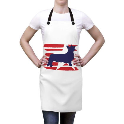 Corgi American Stripes Apron Accessories One Size Tiny Beast Designs