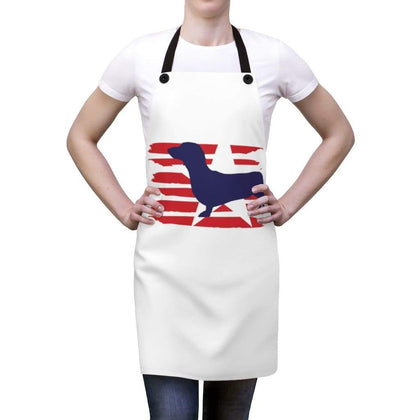 Dachshund American Stripes Apron Accessories One Size Tiny Beast Designs