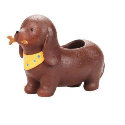 Dachshund Plant Pot Planter Tiny Beast Designs