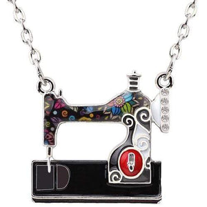 Enamel Sewing Machine Necklace Black / United States Tiny Beast Designs