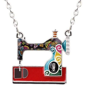 Enamel Sewing Machine Necklace Multicolor / United States Tiny Beast Designs