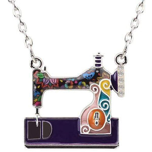 Enamel Sewing Machine Necklace Purple / United States Tiny Beast Designs