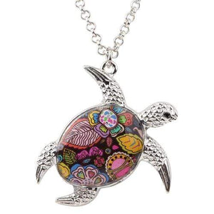 Enamel Turtle Necklace Necklace Pattern F Tiny Beast Designs