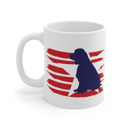 English Springer Spaniel American Stripes Mug Mug 11oz Tiny Beast Designs
