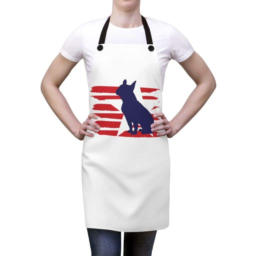 French Bulldog American Stripes Apron Accessories One Size Tiny Beast Designs