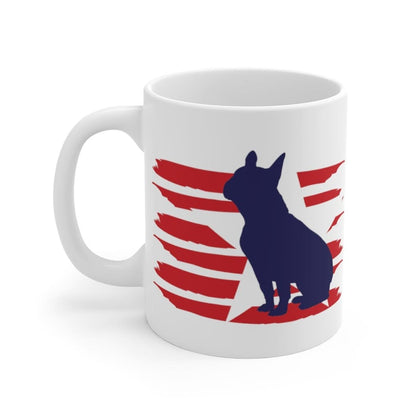 French Bulldog American Stripes Mug Mug 11oz Tiny Beast Designs