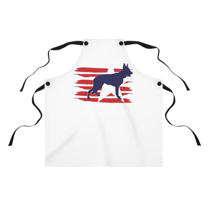 German Shepherd American Stripes Apron Accessories One Size Tiny Beast Designs
